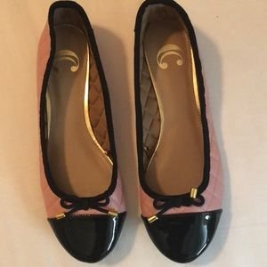 Cute black and pink ballet flats